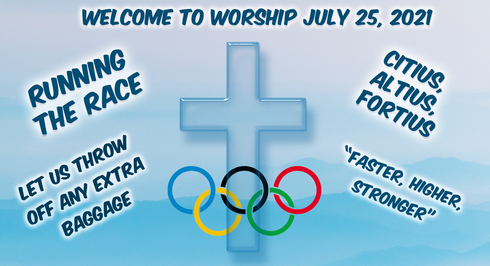 Race for Faith- Throw Off The Baggage: Worship for July 25, 2021