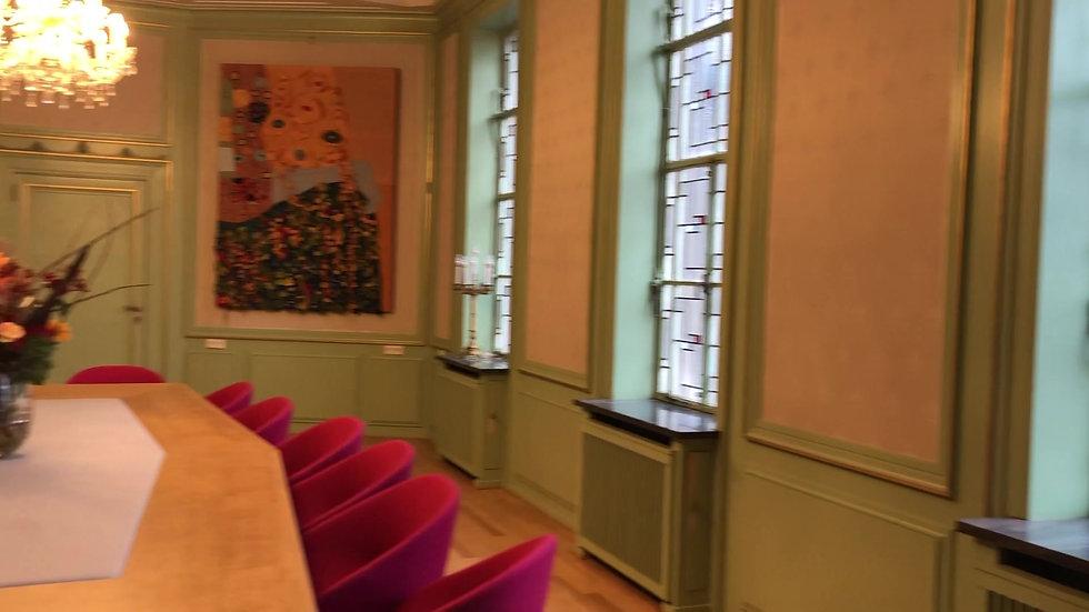 Textiele Kunstdoeken Bestuurskamer Law Faculty Maastricht