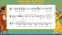 Hakuna Matata-Notation