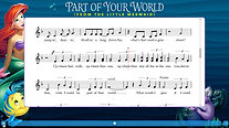 Part of Your World-Notation