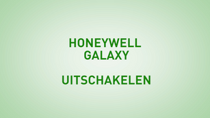 Instructie Honeywell Galaxy uitschakelen