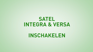 Instructie Satel Integra inschakelen