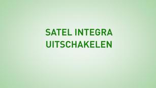 Instructie Satel Integra Uitschakelen