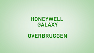 Instructie Honeywell Galaxy overbruggen