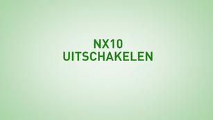 Instructie NX10 uitschakelen