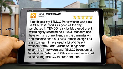 TEMCO - WashParts.Com Oklahoma City Exceptional Five Star Review by Frank's Transmission
