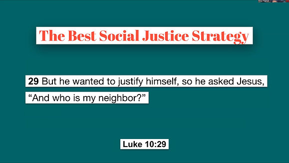 The First and Best Social Justice Strategy