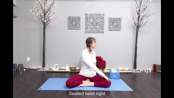 10 Min Yoga Holiday Stress Buster