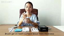 Usage of teeth whitening simple kit