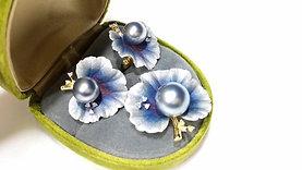 8-9mm South Sea or Tahitian Pearl Earrings, 18k Gold - AAAA