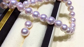 45cm, AAAA 8-8.5 mm Akoya Pearl Classic Necklace Earrings Set