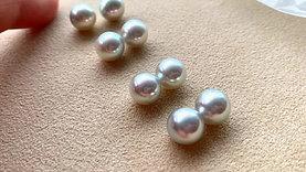 PAIR | 9.3 mm Aurora Madama|真多麻 Akoya Loose Pearl w/ Japanese Certificate