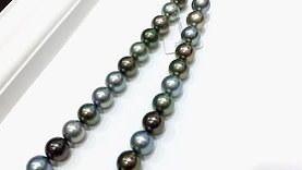 45cm 11.4-11.9 mm Multicolor Tahitian Pearl Classic Necklace - AAAA