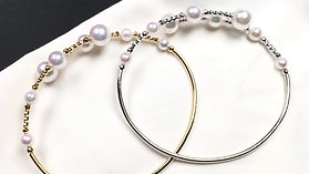 AAA 4-8mm Akoya Pearl Adjustable Bracelet 18k Gold