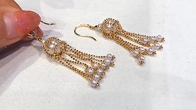 AAAA 3-3.5mm & 8.5-9 mm Akoya Pearl Fashion Earrings 18k Gold