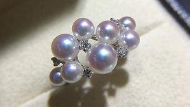 PMS 4-7 mm Baby Akoya Luxury Pearl Ring - AAAA