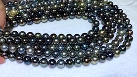 45cm AAA 8-11 mm Multicolor Tahitian Pearl Classic Necklace