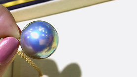 21-22 mm Large Mabe Pearl Pendant 18k Gold - AAAA
