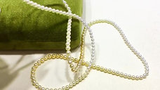 84cm Long Necklace, AAAA 2.5-4mm Akoya Pearl Gradient Ombre Sweater Strand