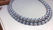 45 cm AAAA 9-9.5 mm Akoya Pearl Classic Necklace w/ Japanese Certificat