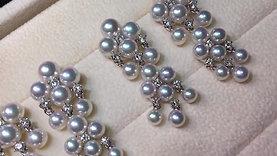 PMS | 4-6mm Akoya Pearl Earrings w/ Japan Certificate