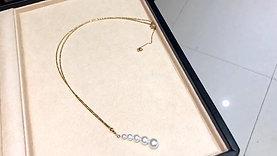 45cm, AAAA 4-9 mm Akoya Pearl Lariat Pendant 18k Gold