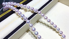45cm, AAAA 9-9.5mm Akoya Pearl Necklace w/ Japanese Certificate