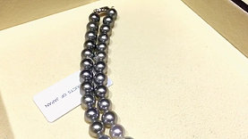 50cm, AAA 9-9.5 mm Multiple Pearls Gradient Ombre Necklace