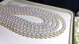 AAAA 45cm 8-9 mm White Pearl Classic Necklace