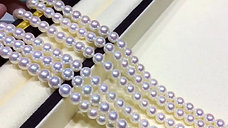 45cm Natural Color 6.5-7mm Aurora Hanadama|天女 Akoya Pearl Necklace w/ Japan Cert