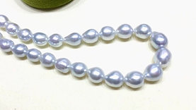 45cm 9-12 mm Baroque White South Sea Pearl Strand Necklace