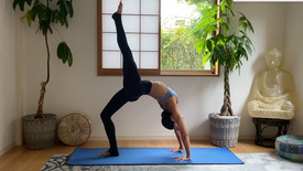 (65 min) Sun A & B Strong Ladder Flow (backbends, forearm stand & balance variations