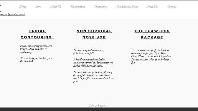 Flawless Transformation Website