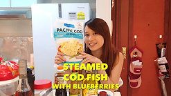 Steam Cod Fish with Blueberries Recipe