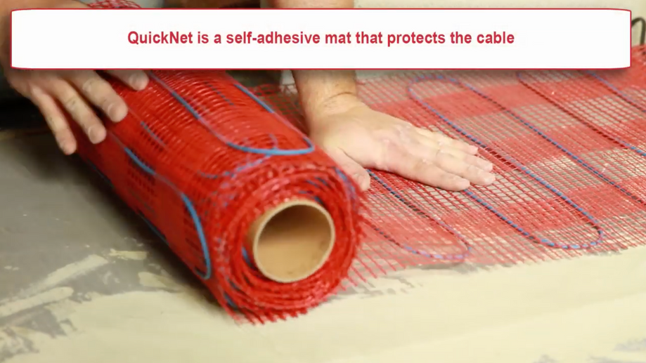 How to install QuickNet heating mats by nVent RAYCHEM
