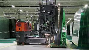 Electric Multidirectional Sideloader M150 for Glass Transport