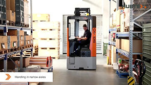 Electric Reach Truck which runs in the metal industry at Schlenk