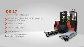Electric Multidirectional Sideloader DS 27 in the aluminium industry