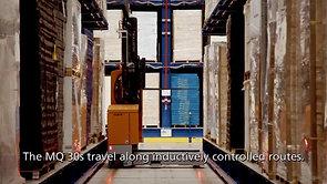 Minimum aisle width for maximum storage capacity