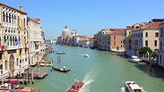 Grand Canal View from Accademia bridge in Venice Italy