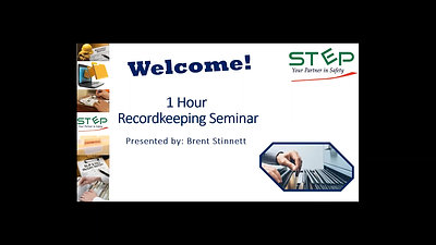 Recordkeeping Webinar