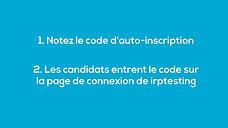 code auto-inscription
