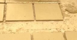 Fabricación de baldosas de barro cocido