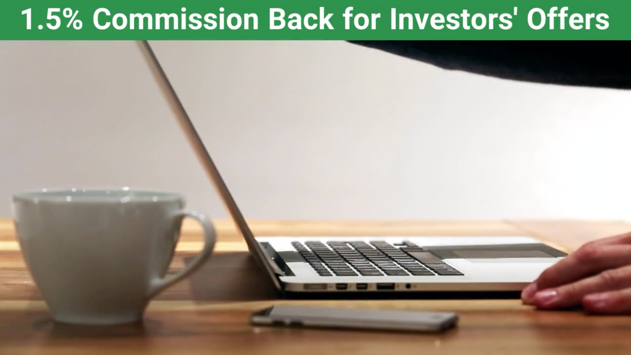 1.5% Commission Back to REI Investors