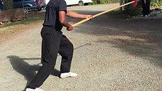 Taiji Spear drill: Rear view