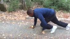 Panther Crawling