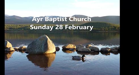 Sunday 28 February 2021
