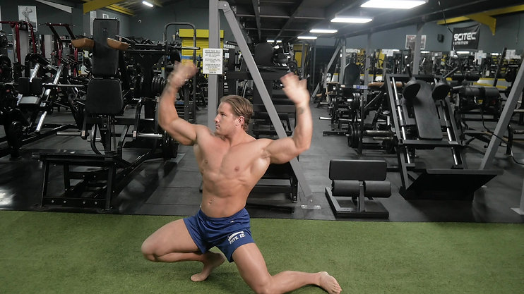3 Transitions into the Twisting Rear Double Bicep