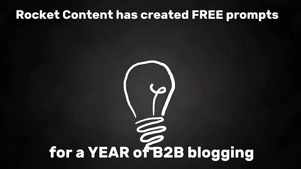 A year of blog ideas