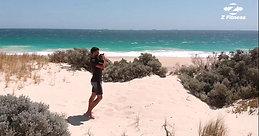 Sandbag beach workout